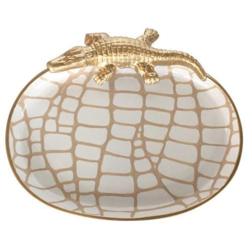 Dana Gibson   Small Crocodile Tray-White $85.00
