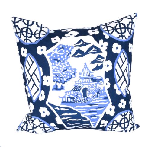 """$215.00 22"""" Canton Blue Pillow"""
