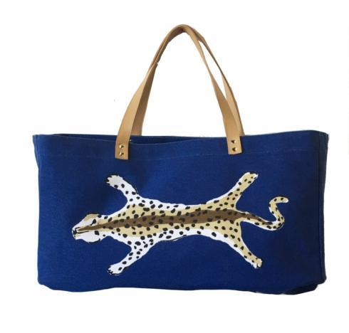 $135.00 Navy Leopard Tote