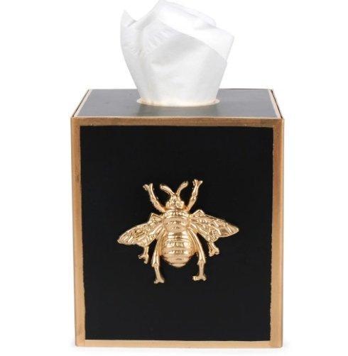 $54.00 Regency Bee Tissue Cover Black
