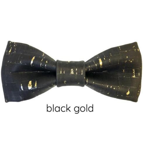 $45.00 Bowtie- Cork Blk/Gold