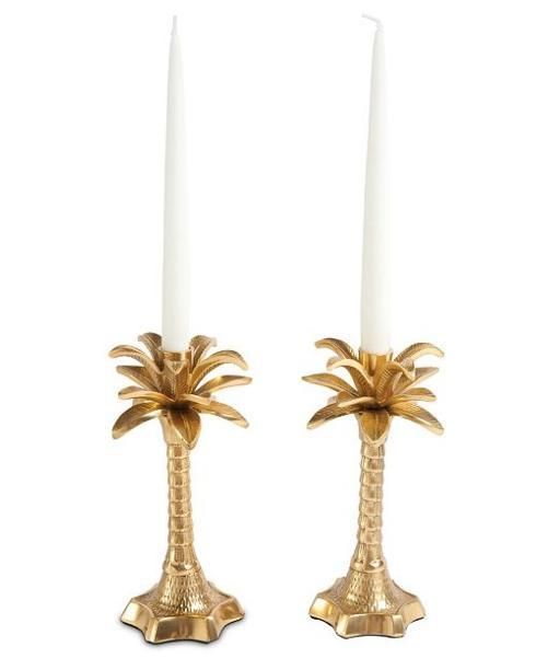 $68.00 Palm Leaf Candlesticks