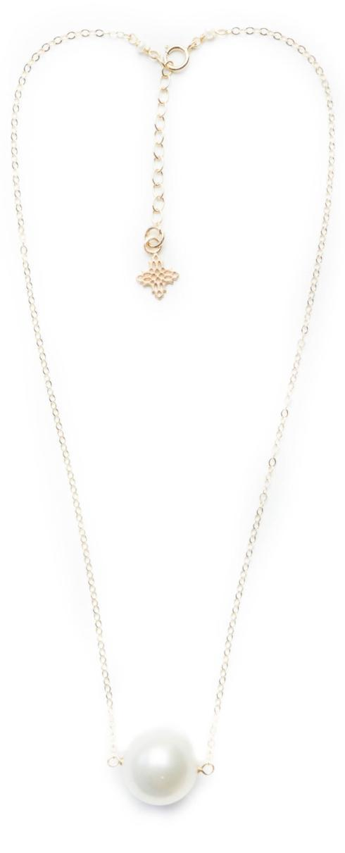 $48.00 Augusta White Pearl and Gold Necklace