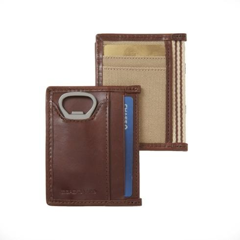 $36.00 Card Case with Bottle Opener Microfiber Brown