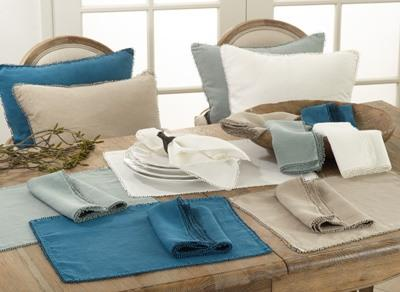 Ivory Pompom Design Placemat collection with 1 products
