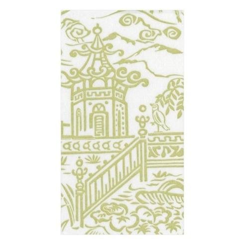 $7.00 Guest Towel- Pagoda Toile Green