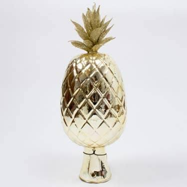 $84.00 Pineapple Glass Tree Topper