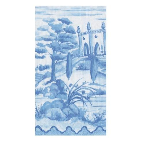 $7.00 Guest Towel- Tuscan Blue Toile