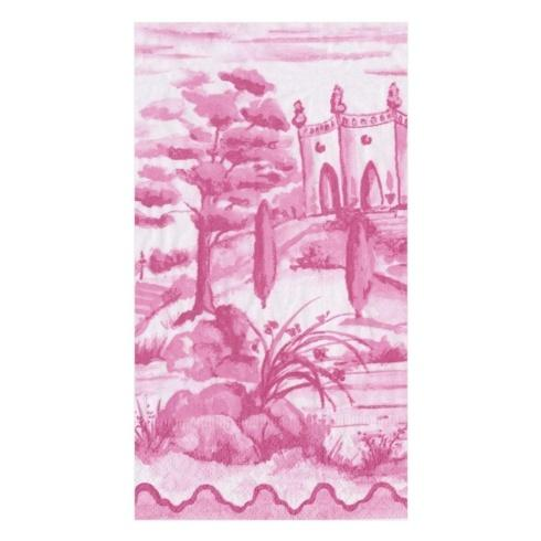 $7.00 Guest Towel- Tuscan Toile Berry