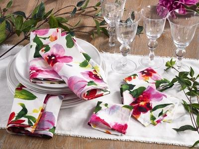 Printed Floral Design Napkin collection with 1 products