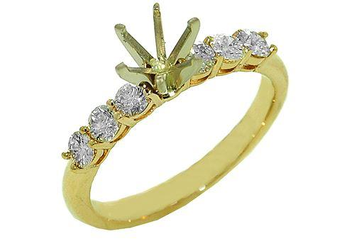 $2,530.00 14k Yellow Gold Diamond Ring