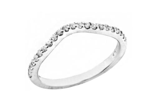 $755.00 14K White Gold Diamond Ring