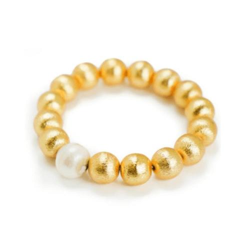 $72.00 Margot White Baroque Bracelet