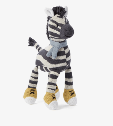 "$24.00 Zebra Toy- 10"""