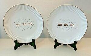 """ Ho Ho Ho Dessert Plates"" Set of 2"