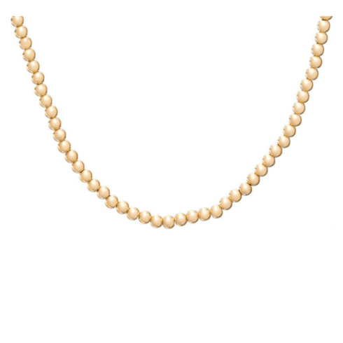 $175.00 Choker Classic Gold 6mm Bead 17""