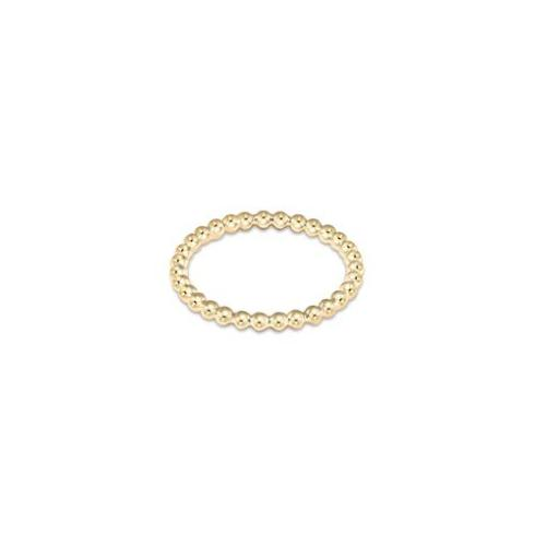 $32.00 Classic Gold 2mm Bead Ring - Size 8