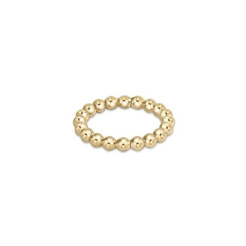 $45.00 Classic Gold 3mm Bead Ring - Size 6