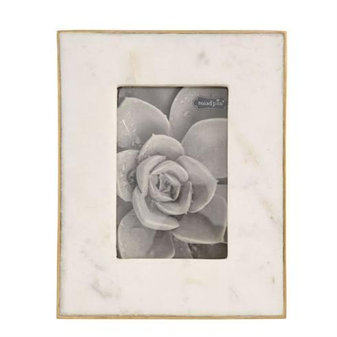 """$39.50 5"""" by 7"""" Marble & Gold Picture Frame"""