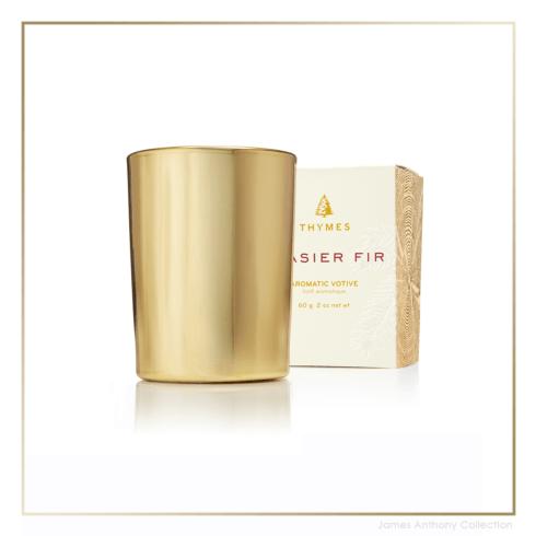 $15.00 Frasier Fir Gold Votive Candle