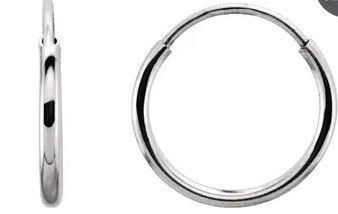 $75.00 14kt White Gold Endless Hoops