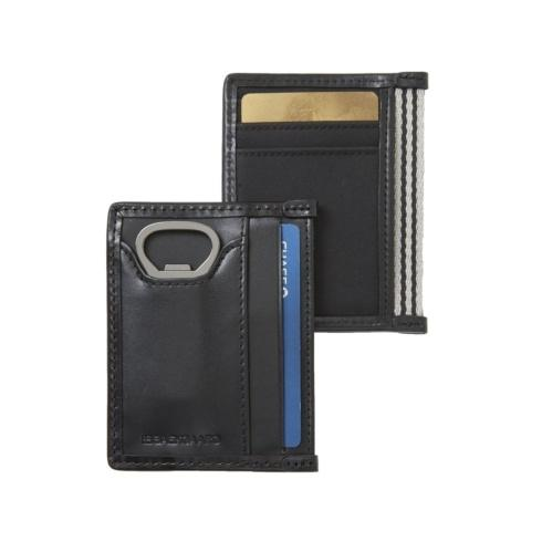 $38.00 Card Case with Bottle Opener Microfiber Black