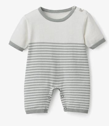 Elegant Baby   Sage Stripe Bubble $38.00