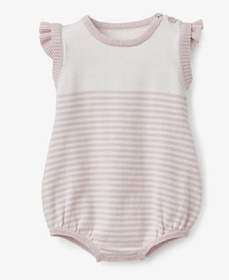 Elegant Baby   Pink Stripe Bubble $38.00