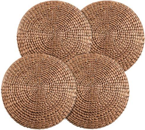 $54.00 Gold Rattan Water Hyacinth (Set of 4)