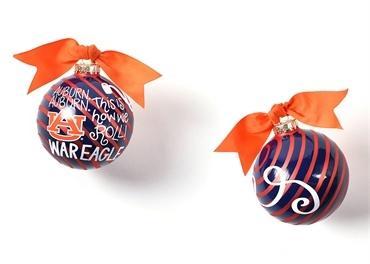 $22.00 Auburn University Glass Ornament - Word Collage