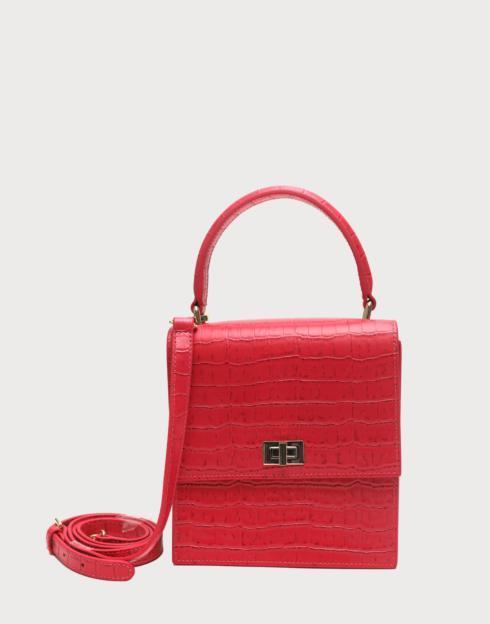 $228.00 No. 19 The Mini Lady Bag Croc Embossed