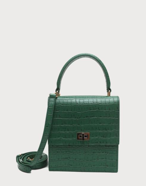 $288.00 No. 19 The Mini Lady Bag Croc Embossed
