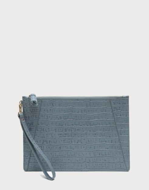 No. 9 Flat Clutch Croc Embossed collection with 1 products