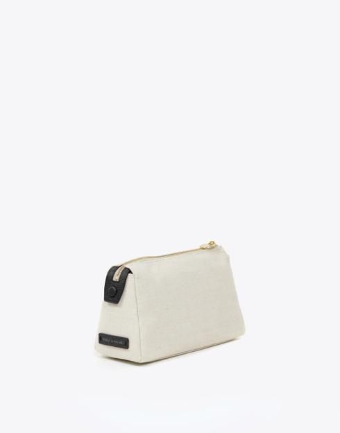 $114.00 No. 30 The Small Canvas Pouch Pebble