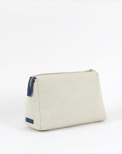 $128.00 No. 32 The Large Canvas Pouch Pebble
