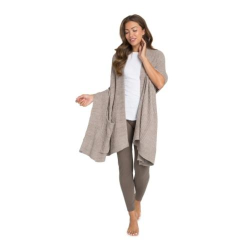 $120.00 Heathered Travel Shawl, Driftwood/Taupe