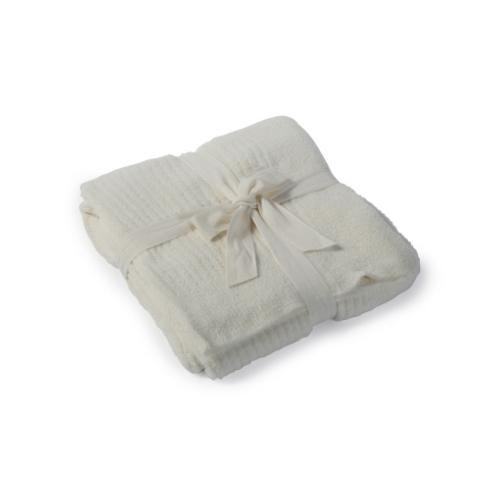 $168.00 Lite Ribbed Throw, Pearl