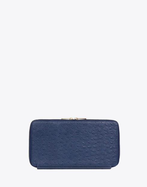 $198.00 No. 29 The Travel Wallet Ostrich