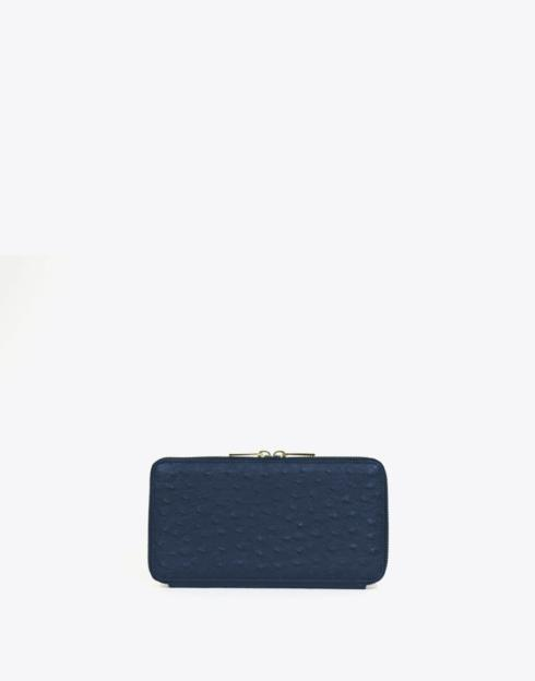 $138.00 No. 48 The Zip Wallet Ostrich