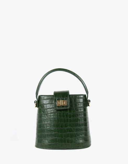 $228.00 No. 56 The Kettle Bag Croc Embossed