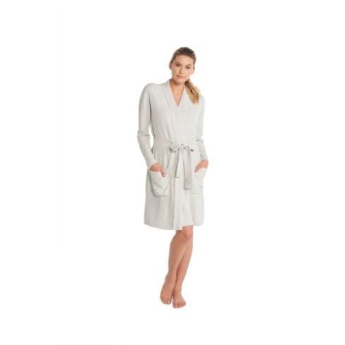 $120.00 Ribbed Robe- Silver/Pearl