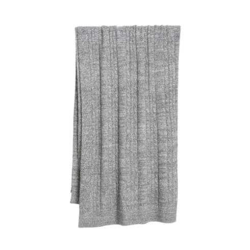 $132.00 Cable Blanket- Graphite/Pearl