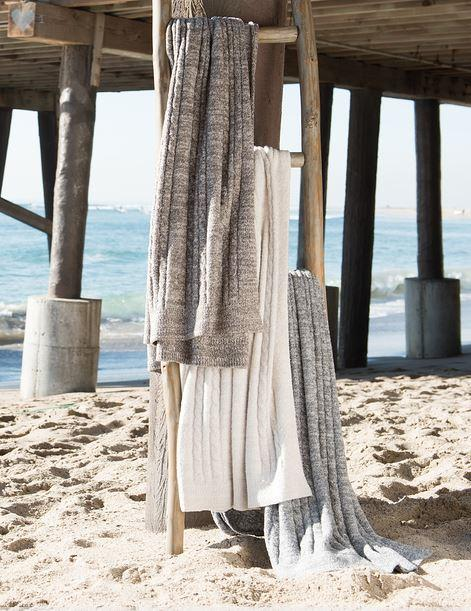 $142.00 CozyChic Lite Heathered Cable Blanket