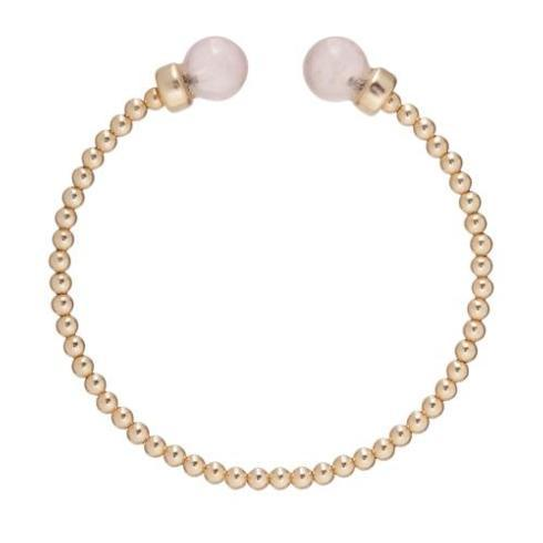 $48.00 Classic Gold 3mm Bead Cuff - Pearl