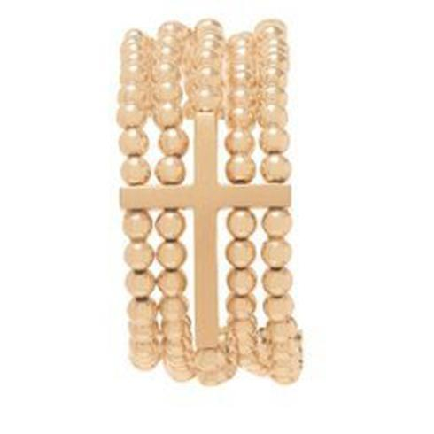 $195.00 Dream Inspire 5-strand 4mm Bead Bracelet - Gold