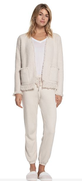 CozyChic Fringed Jacket S