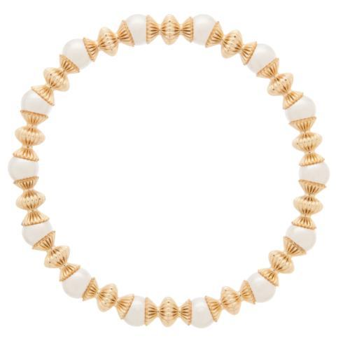 $86.00 Loyalty Gold 6mm Bead Bracelet-Pearl