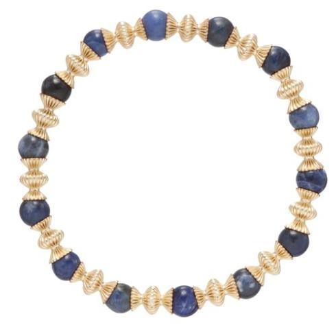 $86.00 Loyalty Gold 6mm Bead Bracelet-Sodalite