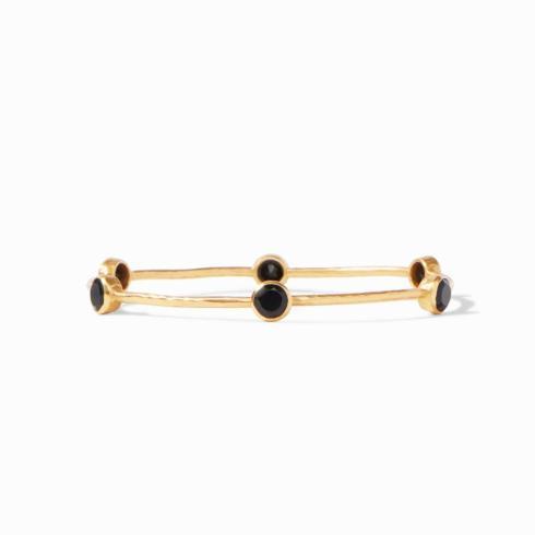 $85.00 Milano Bangle-Obsidian Black-Small