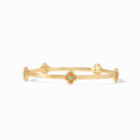 $75.00 Daphne Bangle Gold-Turquoise